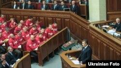 Президент Віктор Янукович у сесійному залі Верховної Ради, Київ, 3 вересня 2013 року