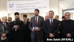 Sporne poruke o odbrani srpskog naroda: Vladimir Božović (u sredini)