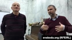 Алесь Разанаў і Ігар Бабкоў (справа)