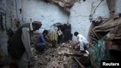 Наступствы землятрусу ў Пакістане. Пешавар, 26 кастрычніка 2015 году