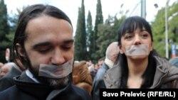 Protest crnogorskih novinara