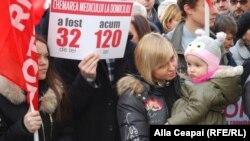 La protestul organizat joi de socialiști la Chișinău
