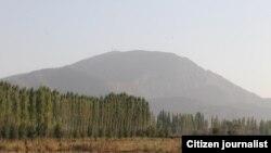 Участок на границе между Узбекистаном и Кыргызстаном.