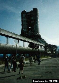 Zgrada lista Oslobođenje, Sarajevo, juli 1993.