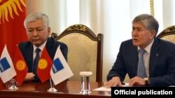 Иса Өмүркулов жана Алмазбек Атамбаев, 16-апрель, 2018-жыл.