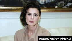 Член жюри международного конкурса «Евразия» Ольга Дыховичная (Беларусь). Алматы, 19 сентября 2014 года.