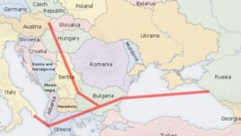 The route of the South Stream gas pipeline
