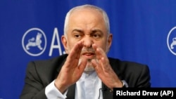 Iranian Foreign Minister Mohammad Javad Zarif speaks at the Asia Society in New York, April 24, 2019
