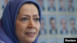 National Council of Resistance of Iran leader Maryam Rajavi (file photo)