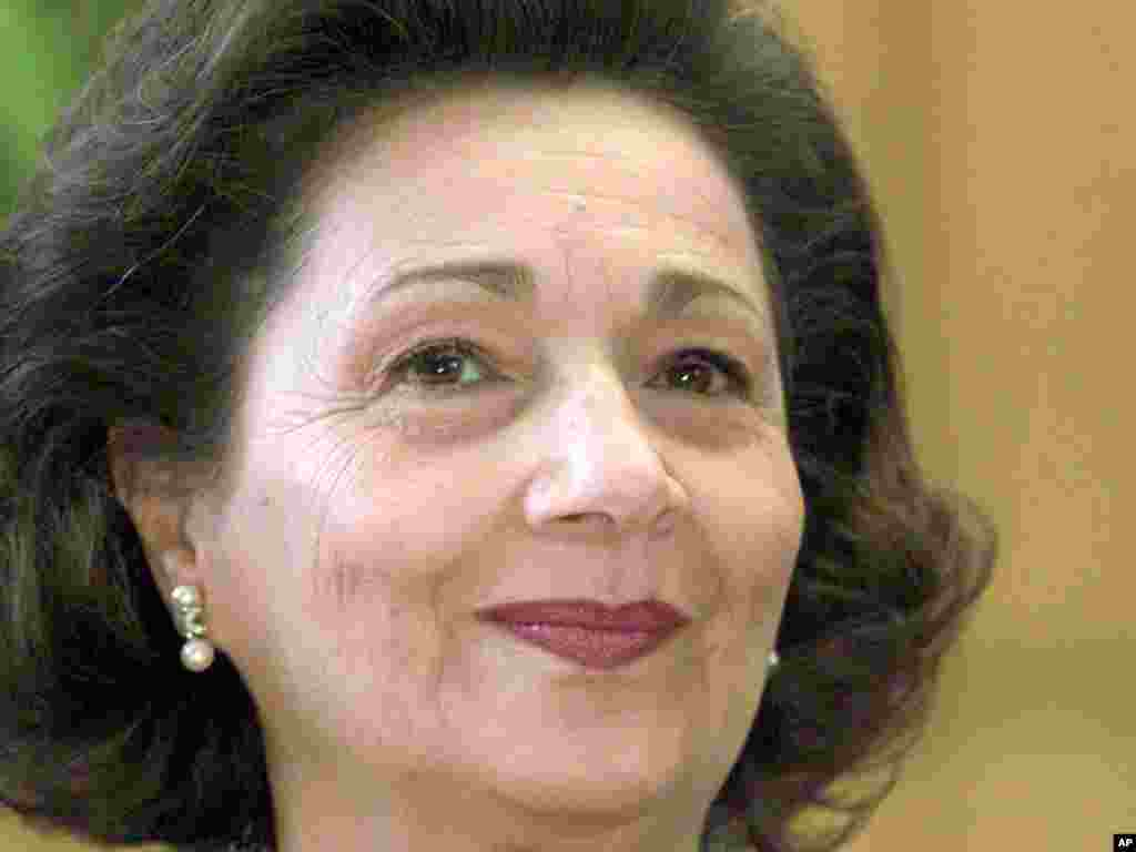 Сюзанна Мубарак, супруга бывшего президента Египта.