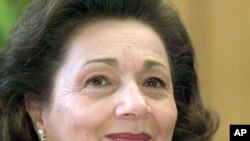 Suzanne Mubarak, wife of ousted Egyptian President Hosni Mubarak