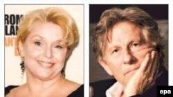 رومن پولانسکی (راست) و سامانتا گایمر، دختری که در ۱۳ سالگی مورد تجاوز پولانسکی قرار گرفت.