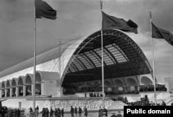 Павильон Механизации сельского хозяйства на ВСХВ, 1939 год.