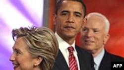 Клинтон (Д), Обама (Д), МакКэйн (Р) - кайсысы президент булыр?