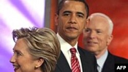 Hillary Clinton, Barack Obama i John McCain