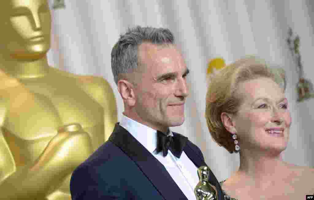 Daniel Day-Lewis i Meryl Streep, Hollywood, 24. februar 2013. Foto: AFP / Joe Klamar