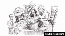 اسماعیل خویی و مهمانانش/ طرح از توکا نیستانی
