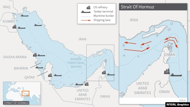 Infographic: Strait Of Hormuz Shipping Lanes
