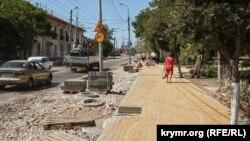 Реконструкція вулиці Льва Толстого в Севастополі, 23 липня 2020 року
