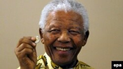 Ish-lideri i Afrikës së Jugut, Nelson Mandela.