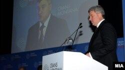 Претседателот Ѓорге Иванов на Кран Монтана Форум во Брисел