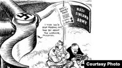 Caricatură de Leslie Illingworth apărută în Daily Mail la 1 mai 1941