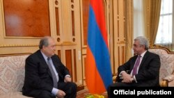 Armenian President Serzh Sarkisian (right) with Armen Sarkissian in Yerevan earlier this year.