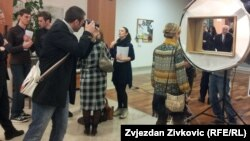 """Detalj sa izložbe """"Sinergija Sarajeva: izražavanje evropskog identiteta u očima Sarajlija"""""""