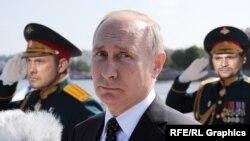 Bu kollajda prezident Vladimir Putin və iki Noviçok şübhəlisi - Aleksandr Petrov və Ruslan Boshirov təsvir ediliblər