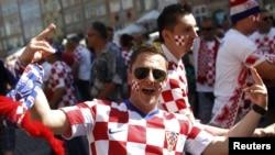 Хорват жанкүйері Хорватия - Испания матчы алдында. Гданьск, 18 маусым 2012 жыл