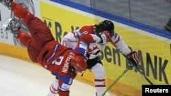 Фрагмент матча Россия - Канада