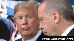 Дональд Трамп и Реджеп Тайып Эрдоган, 11 июля 2018 г.