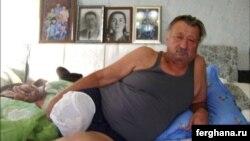 Легендарный узбекский боксер Руфат Рискиев после ампутации правой нижней конечности. Фото «Ферганы».