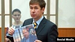 Адвокат Илья Новиков на заседании по делу украинской летчицы Надежда Савченко, 1 февраля 2016