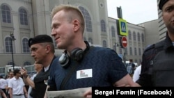 Sergei Fomin was one of hundreds of protesters detained on July 27 in Moscow.