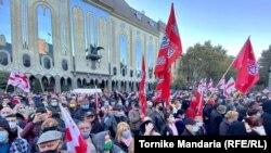 Тбилисидеги оппозициянын акциясы. 8-ноябрь, 2020-жыл.
