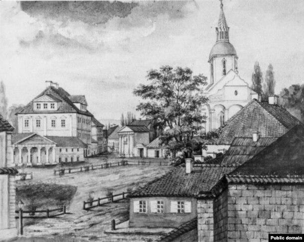 Фара Вітаўта на малюнку Напалеона Орды