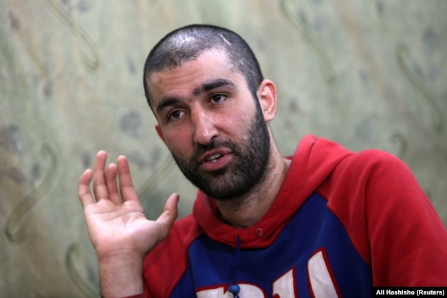 Abdulahad Nazarov is seen in his interview with Reuters in April 2019.