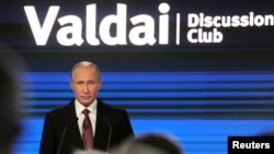 Russian President Vladimir Putin made his remarks at the Valdai International Discussion Club in Sochi.