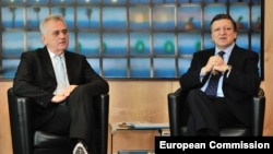 Tomislav Nikolić i Žoze Manuel Barozo, Brisel, 14. juni 2012.