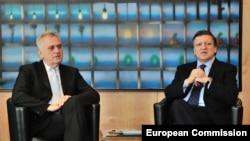 Kryetari i Serbisë, Tomisllav Nikolliq dhe presidenti i Komisionit Evropian, Tomisllav Nikoliq, Bruksel, 14 qershor, 2012