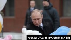 Россия. Владимир Путин, Кемерово, 27.03.2018