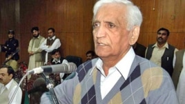 Bashir Bilour, who was killed, spoke to RFE/RL's Radio Mashaal shortly before the attack.