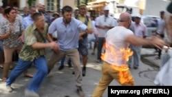 Акт самоспалення в Сімферополі, 3 серпня 2018 року