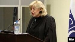 Претставничката на ОБСЕ за слобода на медиумите Дуња Мијатовиќ.