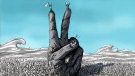 """""""Primăvara arabă"""", pictură de artistul iranian Alierza Darviș."""