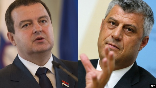 Kosovo's Prime Minister Hashim Thaci (right) says his meeting with Serbian Prime Minister Ivica Dacic could be 'a new chapter' in relations.