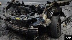 Обломки взорванного автомобиля, иллюстративное фото