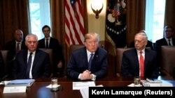 Дональд Трамп (у центрі) на засіданні свого кабінету в Білому домі, Вашингтон, 1 листопада 2017 року