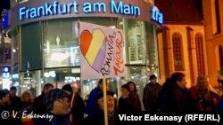 Frankfurt pe Main: diaspora demonstrează solidară cu protestatarii din România